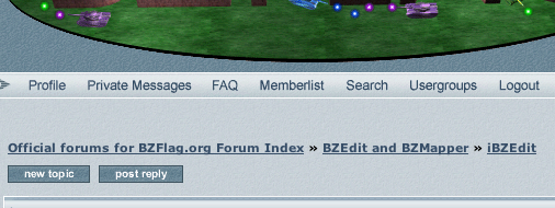 "Hmm, what does that say? Is it ""BZEdit and BZMapper""?"
