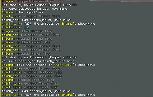 New killed messages; they aren't sent by the server, cluttering the chatbox